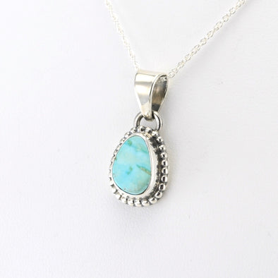 Silver White Water Turquoise Necklace