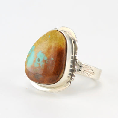Silver Boulder Turquoise Ring