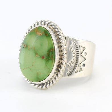 Silver Emerald Valley Turquoise Ring