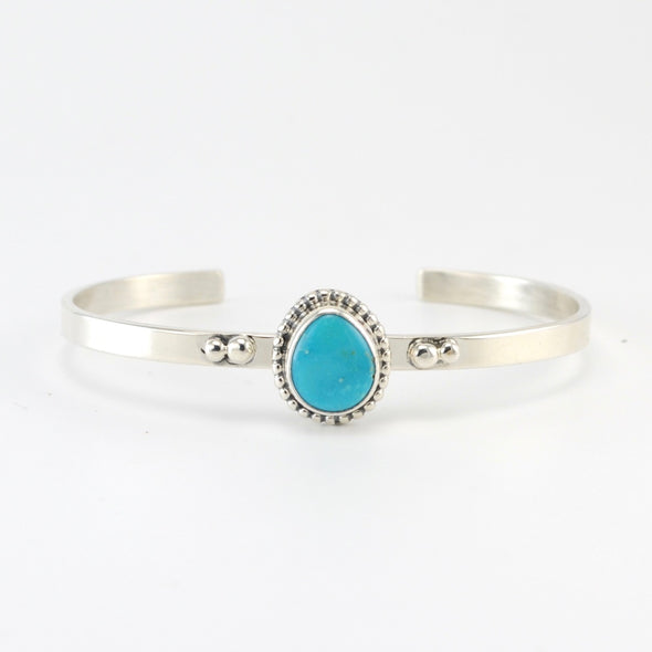 Silver AZ South Hill Turquoise Cuff Bracelet