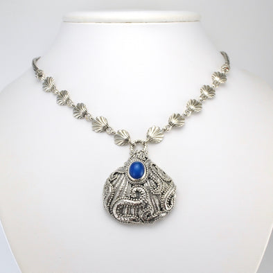 Silver Opal Shell Necklace