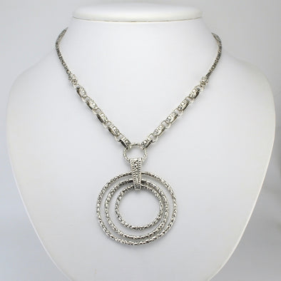 Silver Bali 3 Circle Necklace