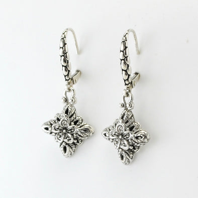 Silver Bali Star Dangle Earrings