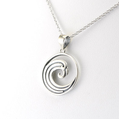 Silver Rip Curl Wave Necklace