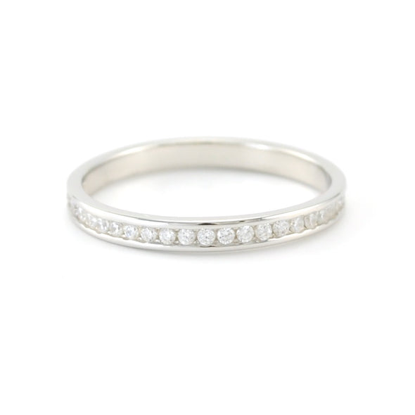 Sterling Silver CZ Eternity Band Size 6