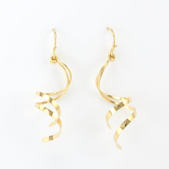 Gold Fill Curl French Wire Earrings