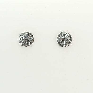 Silver Sand Dollar Post Earrings