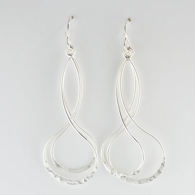 Silver Double Drop Earrings