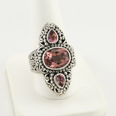 Always True Rose and Magnifique Sunrise Ring