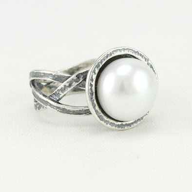Pearl Braided Ring
