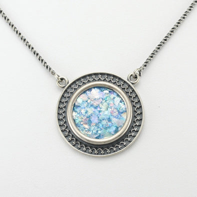 Roman Glass Large Circle Necklace