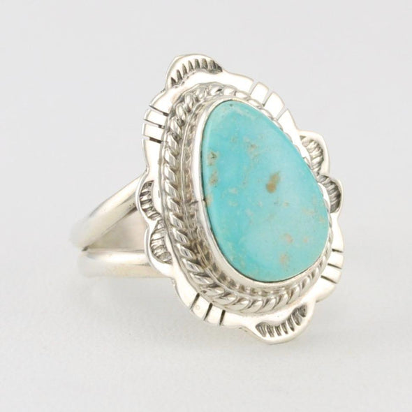 Turquoise Mountain Tear Ring