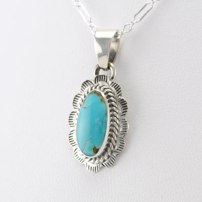 Turquoise Mountain Oval Pendant