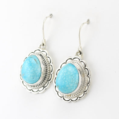 Kingman Turquoise Tear Earrings