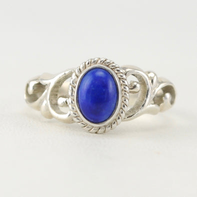 Lapis 5x7mm Oval Ring