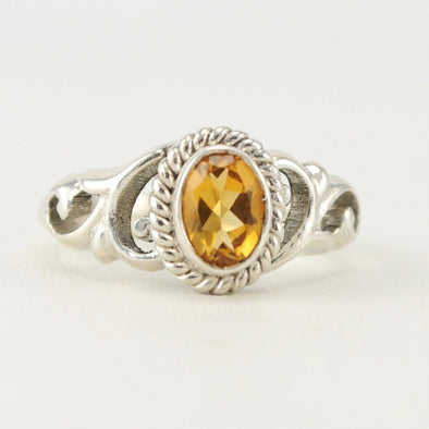 Citrine 5x7mm Oval Ring