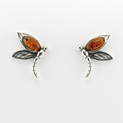 Dragonfly Amber Earrings