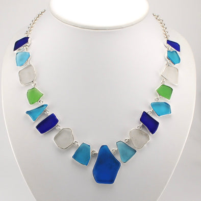 Recycled Glass Toggle Necklace