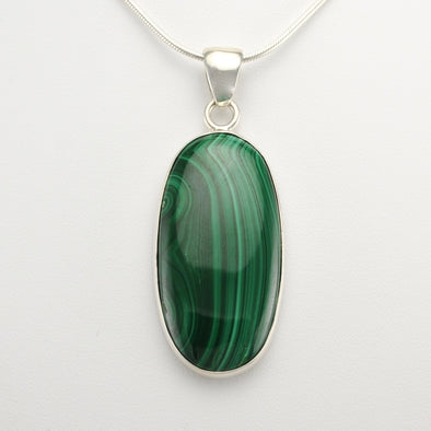 Malachite Long Oval Pendant