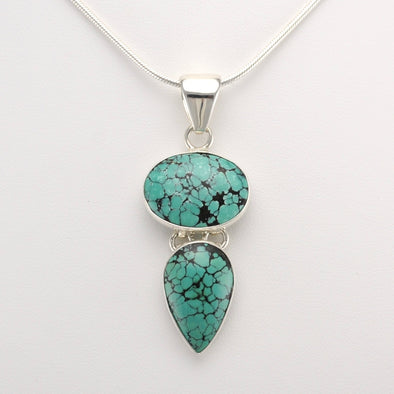 Turquoise Oval Pear Pendant