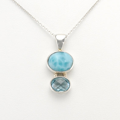 Larimar Blue Topaz Necklace