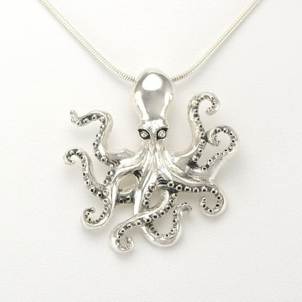 Silver Octopus Small Pendant
