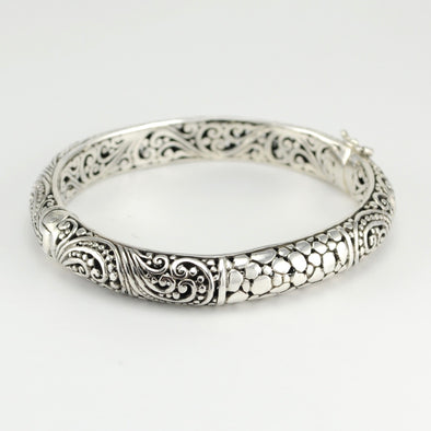 Bali Scroll Watermark Bangle Bracelet
