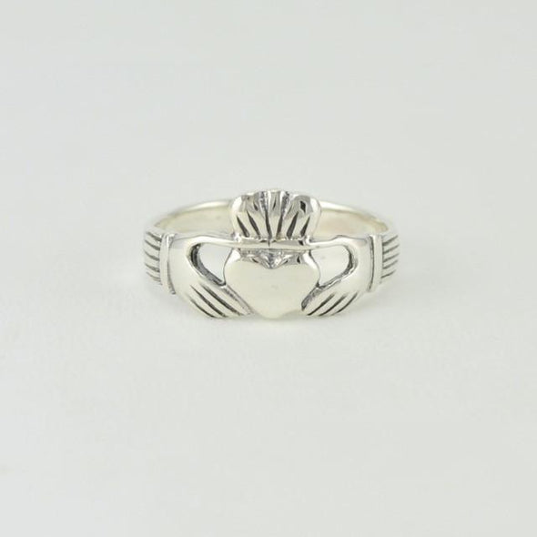 Sterling Silver Claddaugh Ring Size 6