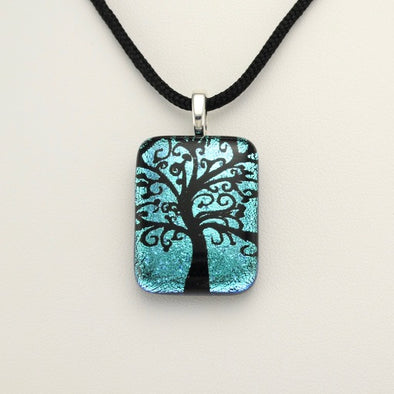 Dichroic Glass Tree Necklace