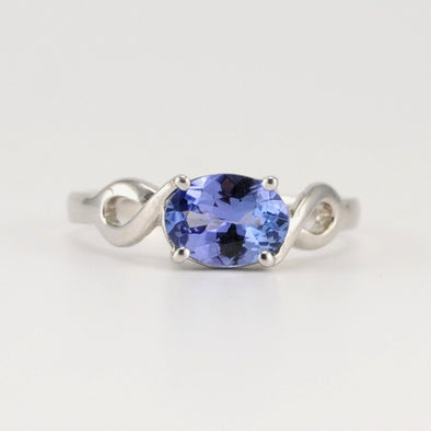 Silver Tanzanite 1.1ct Oval Ring Size 7