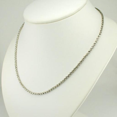 "Sterling Silver 18"" Handmade Chain with 4"" Extender"