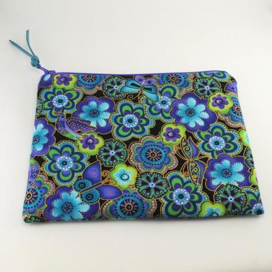 Birds and Butterflies Jewelry Zipper Pouch