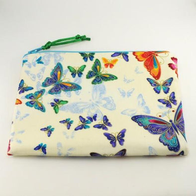 Crystal Butterfly Jewelry Zipper Pouch