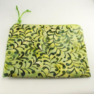 Growing Vines Olive Green Jewelry Zipper Pouch