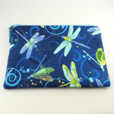 Moonlit Flight Dragonflies Jewelry Zipper Pouch