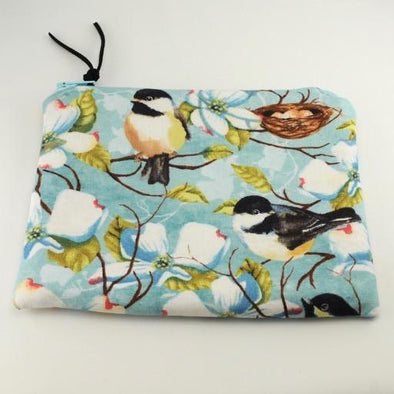 Nesting Chickadees Jewelry Zipper Pouch