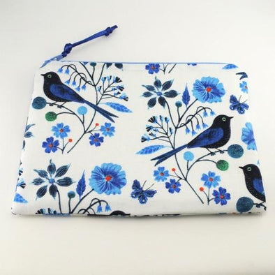 Bluebirds Jewelry Zipper Pouch