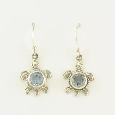 Topaz Turtle Earrings