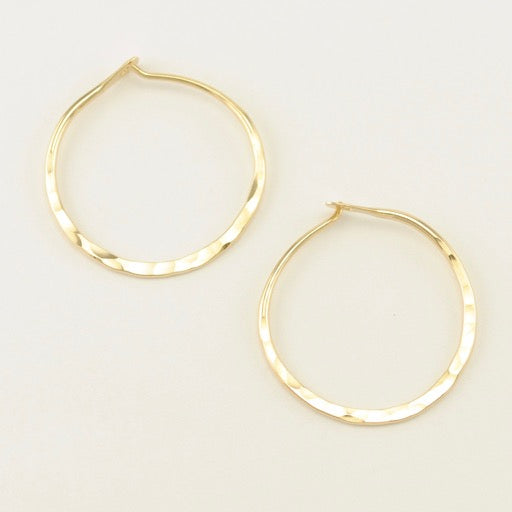 Gold Fill Hammered Hoops