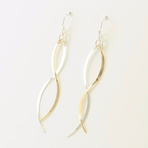 Sterling Silver Gold Fill Curvy Earrings