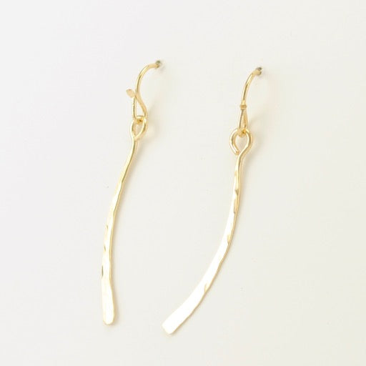 Gold Fill Hammered Earrings