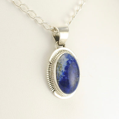 Side View Lapis Pendant
