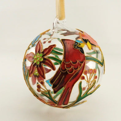 Cardinal Glass Ornament