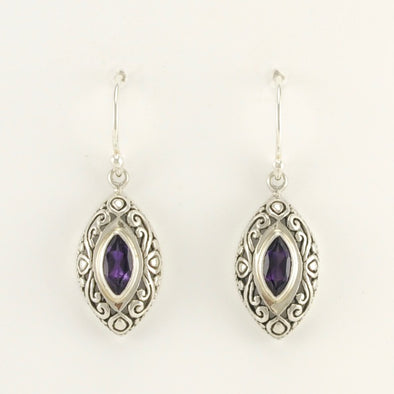 Amethyst Bali Earrings