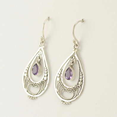 Filigree Earrings with Amethyst