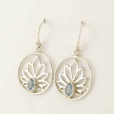 Lotus Topaz Earrings