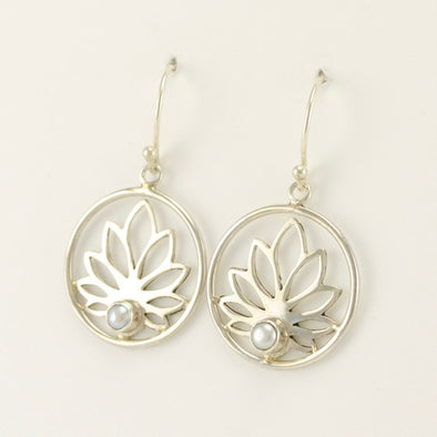 Lotus Pearl Earrings