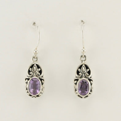Bali Amethyst Earrings