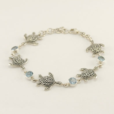 Topaz Sea Turtle Bracelet