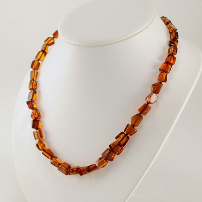 18 Inch Baltic Amber Angular Bead Necklace